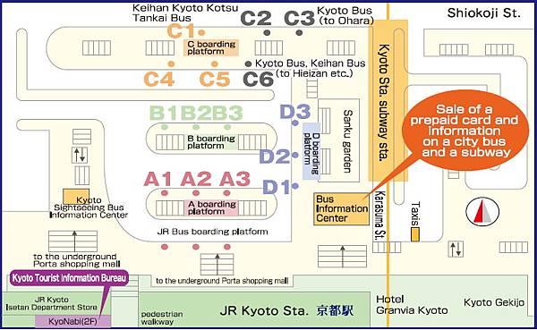 京都巴士站圖
