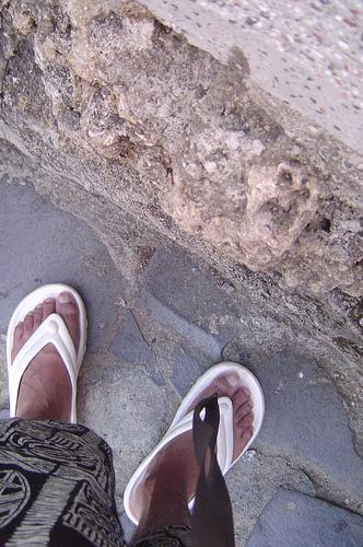 夕陽下的腳~