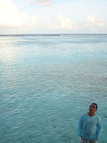 馬爾地夫的海!