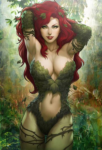 boobs_woman_comics_poison_ivy_artwork_hd-wallpaper-2417634