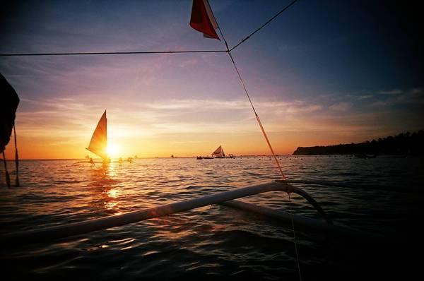 長灘島Boracay坐風帆看夕陽