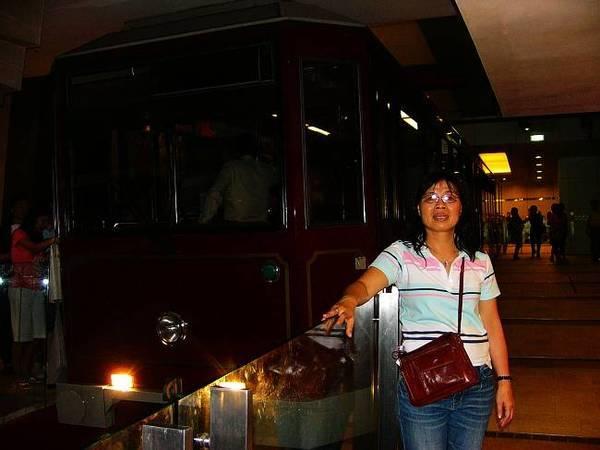 香港太平山纜車山頂下車處