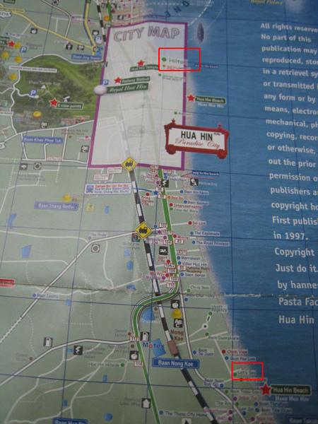 Hua Hin map