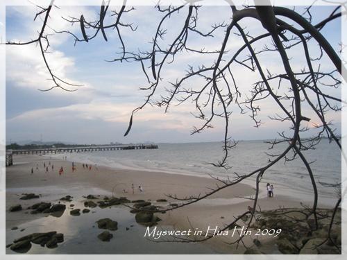 Hua Hin 華欣fishing port附近的沙灘