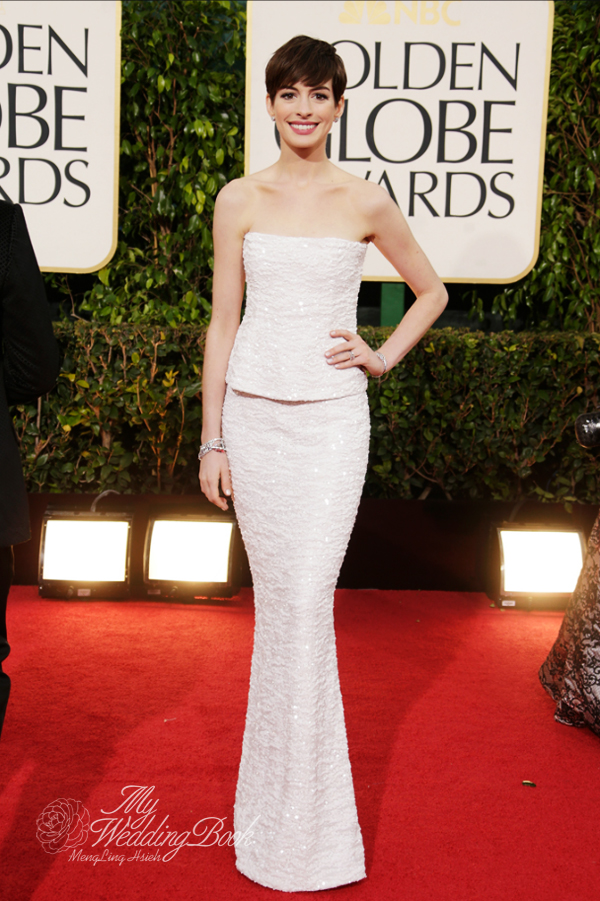 Anne Hathaway_Chanel Haute Couture_2013_Golden Globe
