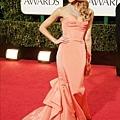 Jessica Alba_Oscar de la Renta_2013_Golden Globe