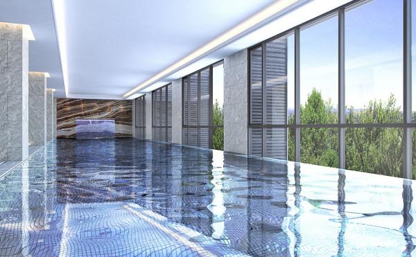 兼具採光和景觀的觀景游泳池