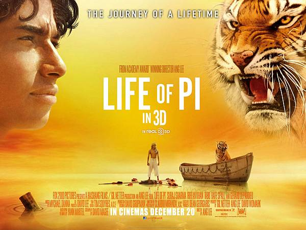少年Pi的奇幻漂流 (Life of Pi) Nov.2012