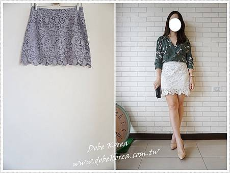 超美自留款葉子蕾絲短裙1-1090