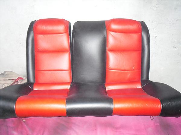 灰色皮椅改色.雙色系汽車皮椅如何處理6.JPG