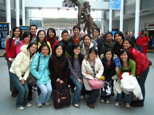 全體合照~這些都是台灣來的留學生喔~
