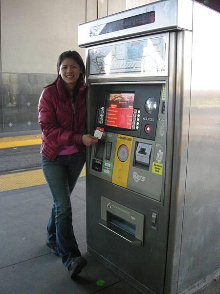 Day2-市區: 聖地牙哥的市區有捷運Torlley, 日票是5元, 可無限轉搭捷運及公車,但價格好貴(若旅遊天數較長可買半月票34元比較划算)