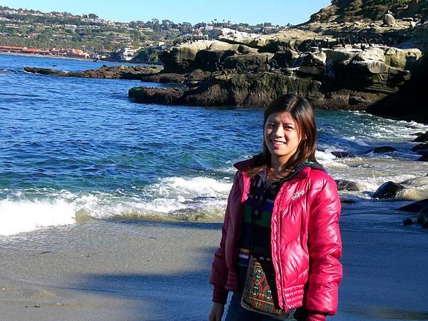 Day 10- La jolla: 今天是海邊之旅, 海好藍, 真想住在這裡阿
