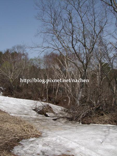 07冬季殘留的雪