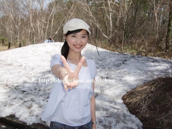 耶~~初夏還能看到雪真是妙