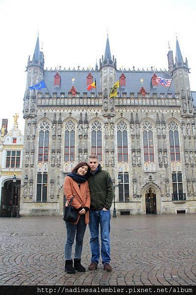 比利時Belgium 布魯日Brugge - 城堡廣場 - 市政廳(City Hall; Stadhuis van Brugge)