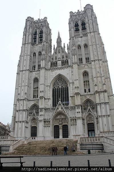 比利時布魯塞爾聖彌額爾聖古都勒主教座堂St. Michael and St. Gudula Cathedral, Cathédrale Saints-Michel-et-Gudule, Sint-Michiels- en Sint-Goedelekathedraal, Sint-Goedele Brussels, Bruxelles, Brussel