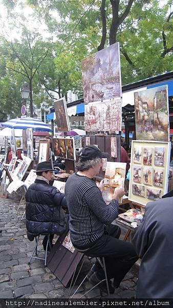 Montmartre Paris 巴黎街頭創作