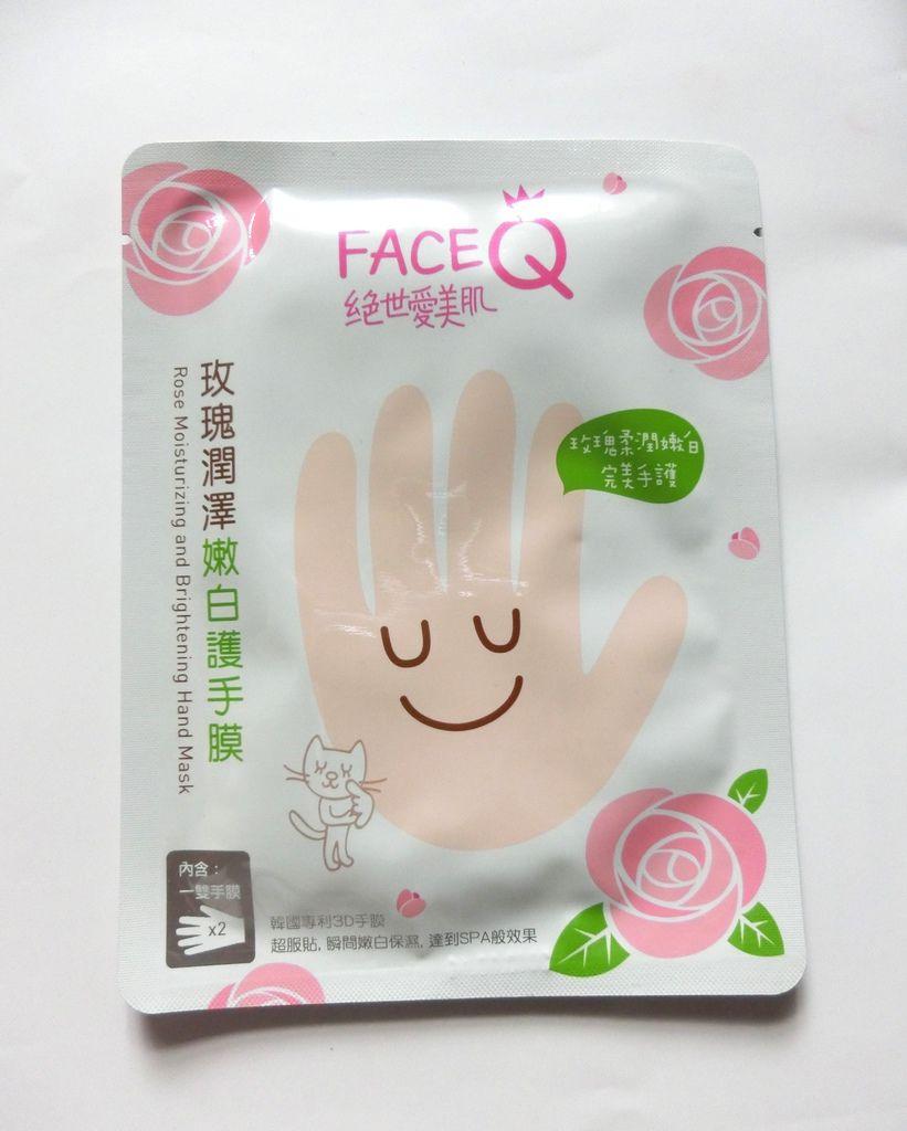 FACEQ絕世愛美肌.玫瑰潤澤嫩白護手膜×5