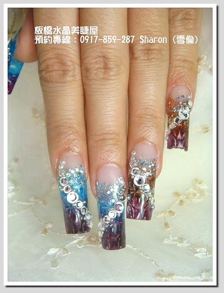十月主打星-琉璃水晶指甲