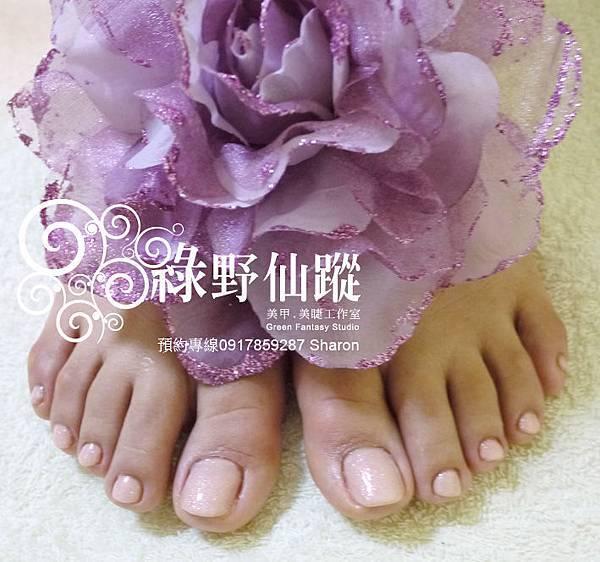 【光療指甲】20110619江姐-足部基礎保養+足部光療指甲.JPG