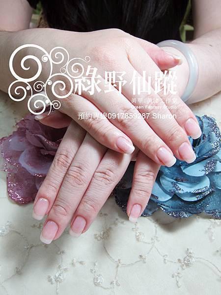 【光療指甲】20110624手部自然光療指甲.jpg