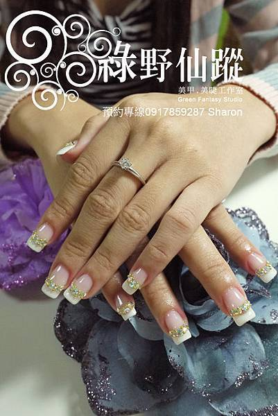 【光療指甲】20110708欣儀-法式光療補甲.jpg