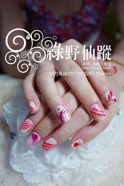 【光療指甲】20110730莉禎-單色光療指甲.jpg
