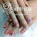 【光療指甲】20110805-小米日本寫真貼光療指甲01.jpg