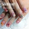 【光療指甲】20110805-小米日本寫真貼光療指甲02.jpg