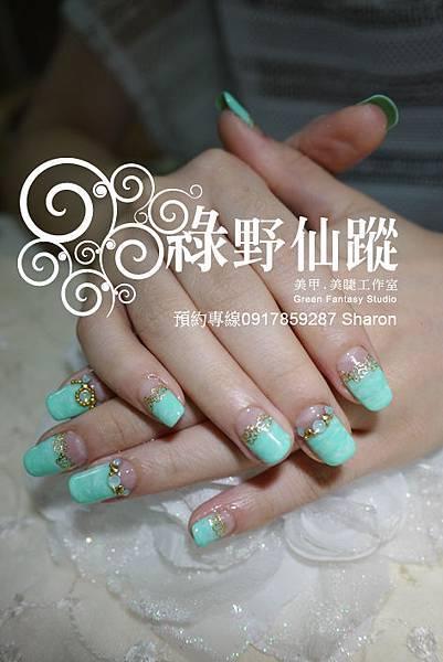 【光療指甲】20110904-莉禎 大理石反法式光療指甲.jpg