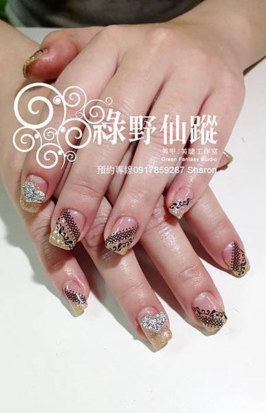 201202個性風格璀璨光療指甲