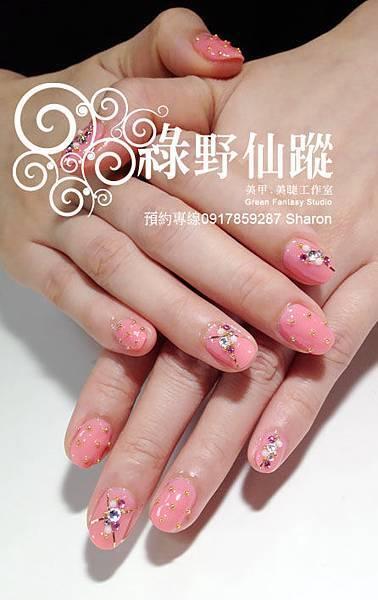 201203質感滿分的雜誌款光療指甲