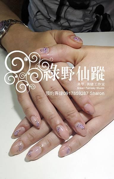 【光療指甲】201204素琴奶茶色漸層+工筆夾心光療指甲