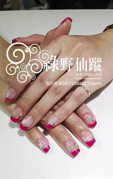 【光療指甲】201204新娘款斜法式光療指甲