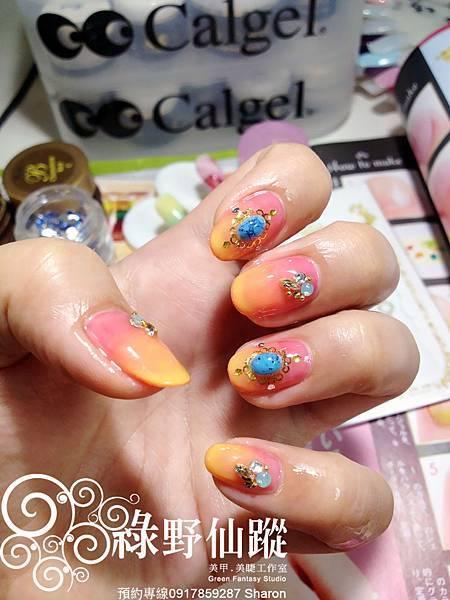 【光療指甲】20120425 雪倫我充滿異國風情的雙色漸層光療指甲