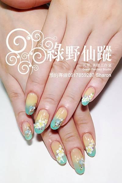 【光療指甲】201204 gigi的雙色漸層光療指甲
