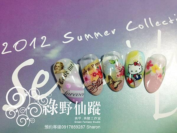 【光療指甲】20120529五月份新貨試作光療指甲作品