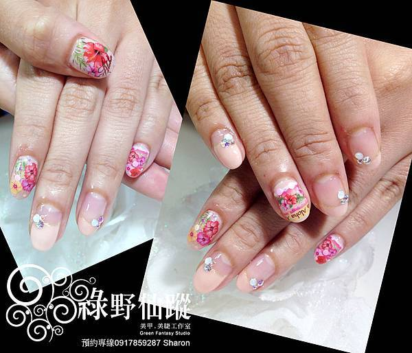【光療指甲】20120530素琴的夏季限定款光療指甲