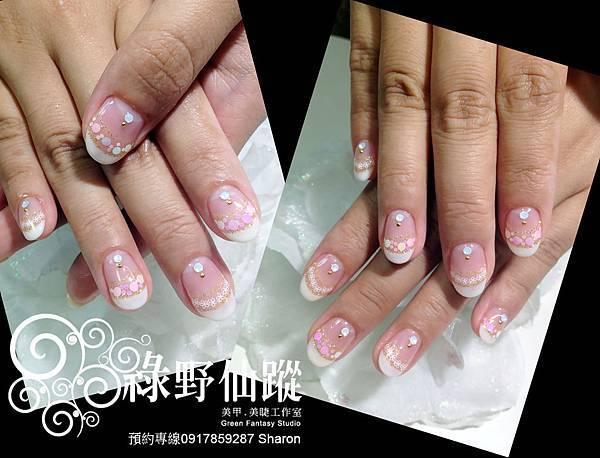 【光療指甲】20120531新娘拍照款法式光療指甲