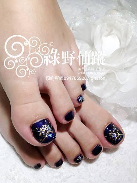【光療指甲】郁芳的足部光療指甲