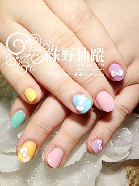 【光療指甲】JoJo的夏日甜心跳色光療指甲