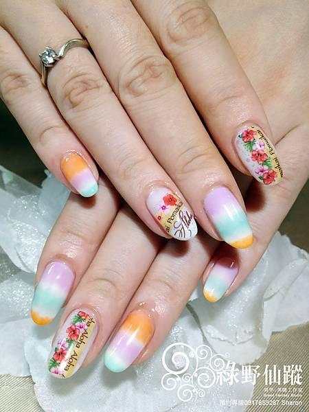 【光療指甲】Keran的夏日民俗風光療指甲