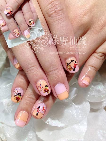 【光療指甲】小錦的雙色英國倫敦風光療指甲