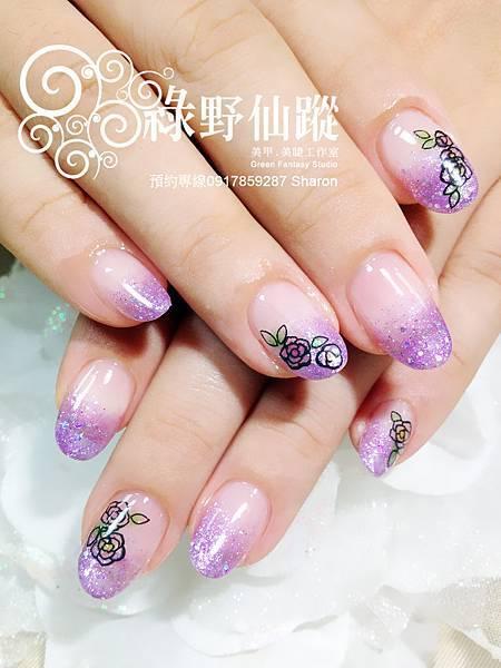 【光療指甲】Rebecca的巴洛克玫瑰璀璨光療指甲