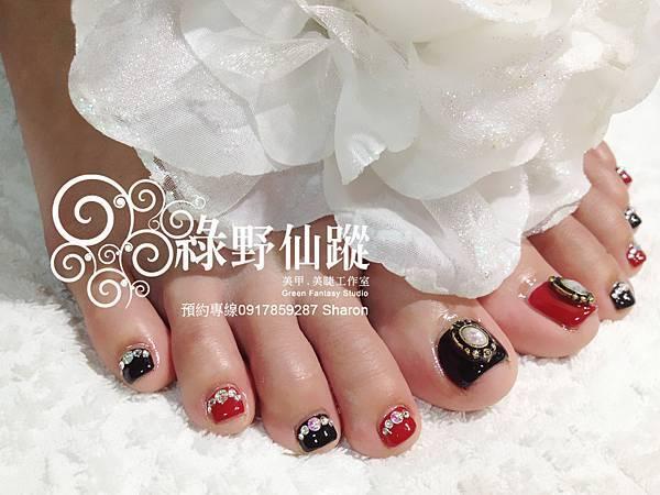 【光療指甲】阿美族美女的的個性華麗足部光療指甲