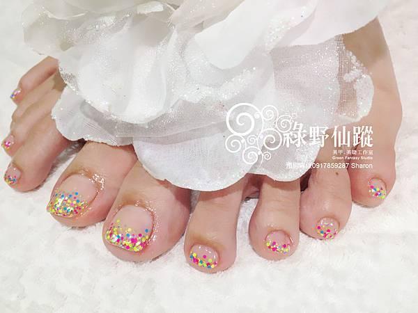 【光療指甲】大阪限定亮片璀璨足部光療指甲