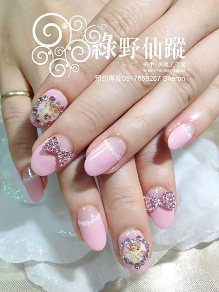 【光療指甲】Ellina拍婚紗照用的光療指甲