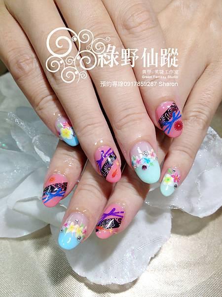 【光療指甲】小元的日本煙火季光療指甲