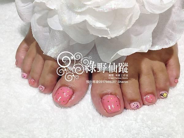 【光療指甲】榕榕的夏日足部光療指甲
